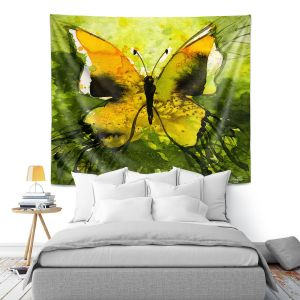 Artistic Wall Tapestry   Kathy Stanion - Watercolor Butterfly 35   insect bug nature