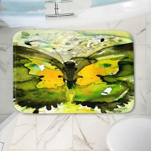 Decorative Bathroom Mats | Kathy Stanion - Watercolor Butterfly 36 | insect bug nature