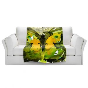 Artistic Sherpa Pile Blankets | Kathy Stanion - Watercolor Butterfly 36 | insect bug nature