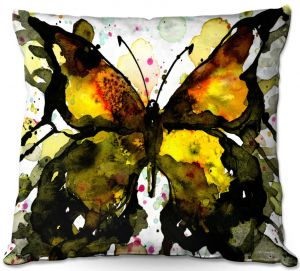 Throw Pillows Decorative Artistic | Kathy Stanion - Watercolor Butterfly 37 | insect bug nature