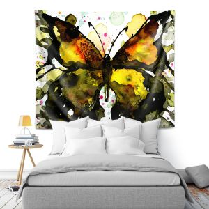 Artistic Wall Tapestry | Kathy Stanion - Watercolor Butterfly 37 | insect bug nature