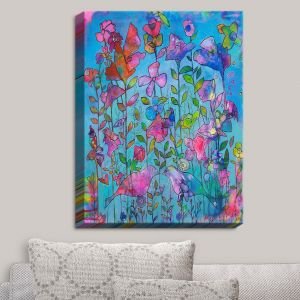 Decorative Canvas Wall Art | Kim Ellery - Beautiful Thoughts | Flowers Birds Colorful Nature