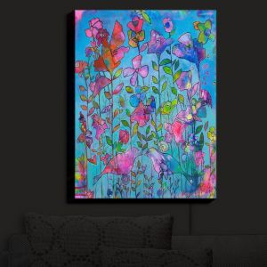 Nightlight Sconce Canvas Light | Kim Ellery - Beautiful Thoughts | Flowers Birds Colorful Nature
