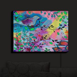 Nightlight Sconce Canvas Light   Kim Ellery - Branching Out   Flowers Birds Colorful Nature