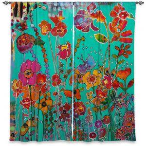 Decorative Window Treatments | Kim Ellery - Bubbly | flower garden floral