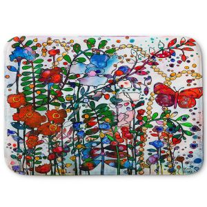 Decorative Bathroom Mats | Kim Ellery - Butterfly Garden | flower floral insect