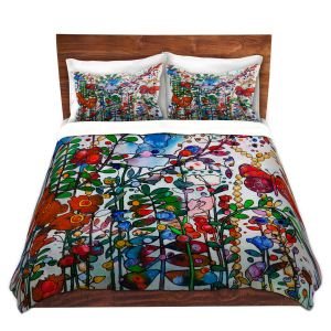 Artistic Duvet Covers and Shams Bedding   Kim Ellery - Butterfly Garden   flower floral insect