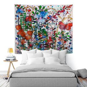 Artistic Wall Tapestry | Kim Ellery - Butterfly Garden | flower floral insect
