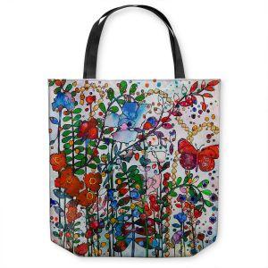 Unique Shoulder Bag Tote Bags | Kim Ellery - Butterfly Garden | flower floral insect