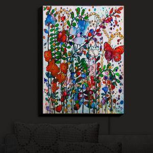 Nightlight Sconce Canvas Light | Kim Ellery - Butterfly Garden | flower floral insect
