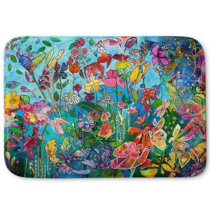 Decorative Bathroom Mats | Kim Ellery - Diving In Flowers | floral pattern