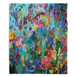 Artistic Sherpa Pile Blankets | Kim Ellery - Diving In Flowers | floral pattern