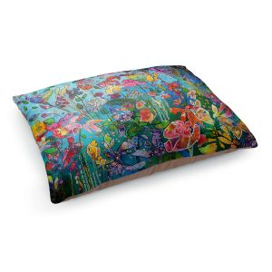 Decorative Dog Pet Beds | Kim Ellery - Diving In Flowers | floral pattern