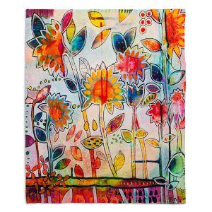 Artistic Sherpa Pile Blankets | Kim Ellery - Don't Box Me In | flower still life pattern