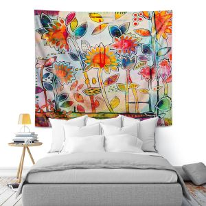 Artistic Wall Tapestry | Kim Ellery - Don't Box Me In | flower still life pattern