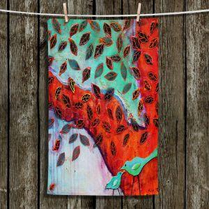 Unique Hanging Tea Towels   Kim Ellery - Eternal Love   Tree Birds Nature