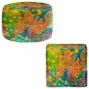 Round and Square Ottoman Foot Stools | Kim Ellery - Everything is Rooted in Love