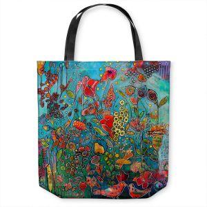 Unique Shoulder Bag Tote Bags | Kim Ellery - Eye See You | flower garden floral