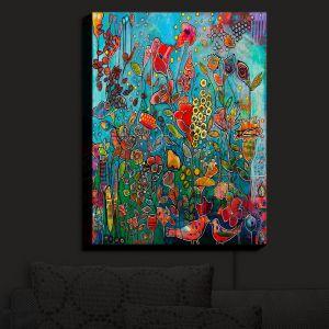 Nightlight Sconce Canvas Light | Kim Ellery - Eye See You | flower garden floral