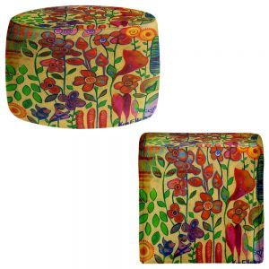 Round and Square Ottoman Foot Stools | Kim Ellery - Golden Days