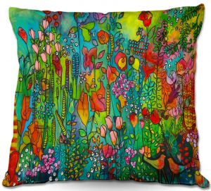 Decorative Outdoor Patio Pillow Cushion | Kim Ellery - Happy Place