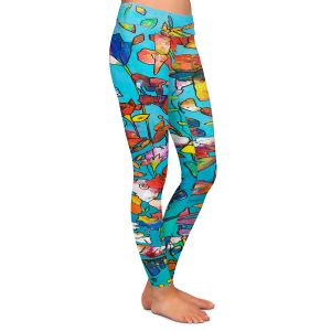 Casual Comfortable Leggings | Kim Ellery - I Found Love | Abstract Flowers