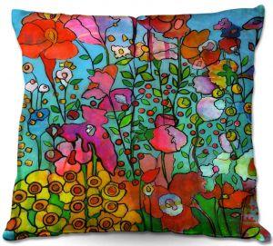 Decorative Outdoor Patio Pillow Cushion | Kim Ellery - Joyful Chatter