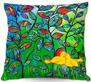 Decorative Outdoor Patio Pillow Cushion | Kim Ellery - Love Birds