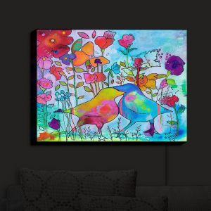 Nightlight Sconce Canvas Light | Kim Ellery - Loved | Flowers Birds Colorful Nature