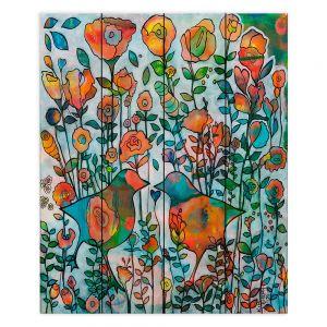 Decorative Wood Plank Wall Art | Kim Ellery - Loved 2 | flower pattern