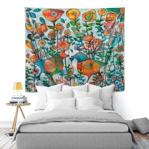 Artistic Wall Tapestry | Kim Ellery - Loved 2 | flower pattern