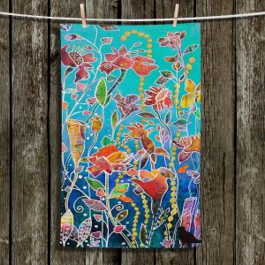 Unique Bathroom Towels | Kim Ellery - Only Imagine | Flowers Garden