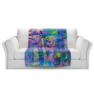 Artistic Sherpa Pile Blankets | Kim Ellery - Rays Of Light