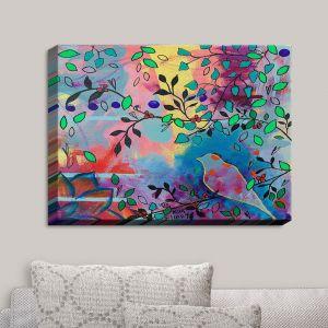 Decorative Canvas Wall Art   Kim Ellery - Seeker   Flowers Birds Colorful Nature