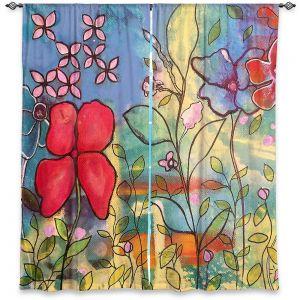 Decorative Window Treatments | Kim Ellery - Sketch l | Flowers Garden