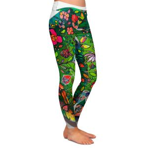Casual Comfortable Leggings | Kim Ellery - Spread Love | circle garden flower floral