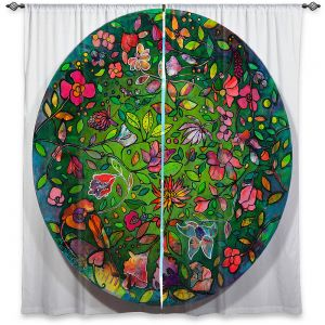 Decorative Window Treatments | Kim Ellery - Spread Love | circle garden flower floral