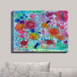 Decorative Canvas Wall Art | Kim Ellery - Sublety | Flowers Gardens Colorful Nature
