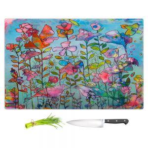 Artistic Kitchen Bar Cutting Boards | Kim Ellery - Subtlety 2 | flower garden floral
