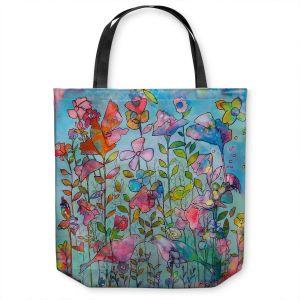 Unique Shoulder Bag Tote Bags | Kim Ellery - Subtlety 2 | flower garden floral