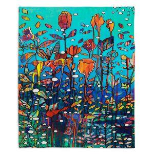 Decorative Fleece Throw Blankets   Kim Ellery - Swimming   Underwater Garden Flowers
