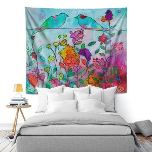 Artistic Wall Tapestry   Kim Ellery - Wired Together