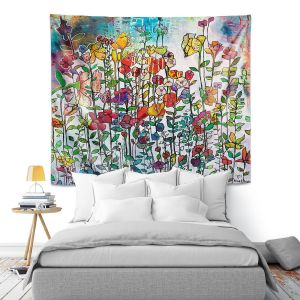 Artistic Wall Tapestry   Kim Ellery - With You   Flowers Garden