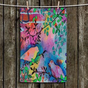 Unique Hanging Tea Towels | Kim Ellery - You Found Me | Flowers Birds Colorful Nature