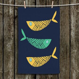 Unique Hanging Tea Towels | Kim Hubball - Fish Nursery | Patterns Fish