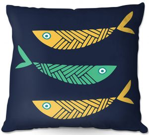 Throw Pillows Decorative Artistic | Kim Hubball - Fish Nursery
