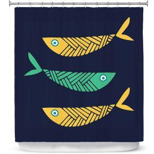 Premium Shower Curtains | Kim Hubball - Fish Nursery
