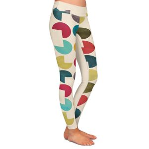 Casual Comfortable Leggings | Kim Hubball - Geo Circles