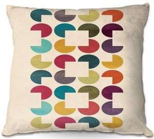 Throw Pillows Decorative Artistic | Kim Hubball - Geo Circles