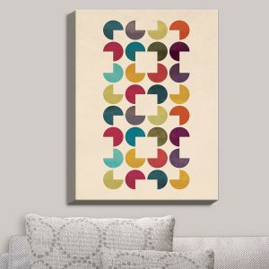 Decorative Canvas Wall Art | Kim Hubball - Geo Circles | Pattern